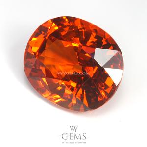 สเปสซาร์ไทด์ (Spessartite Garnet) 5.93 กะรัต สีส้ม 1