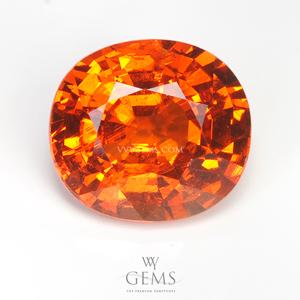 สเปสซาร์ไทด์ (Spessartite Garnet) 5.33 กะรัต สีส้ม
