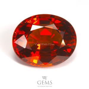 สเปสซาร์ไทด์ (Spessartite Garnet) 6.80 กะรัต สีส้ม IF ไร้ตำหนิ หายากมากๆ