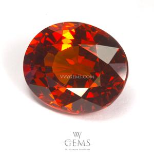 สเปสซาร์ไทด์ (Spessartite Garnet) 6.80 กะรัต สีส้ม IF ไร้ตำหนิ หายากมากๆ 1
