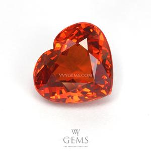 สเปสซาร์ไทด์ (Spessartite Garnet) 4.07 กะรัต รูปหัวใจ Happy heart
