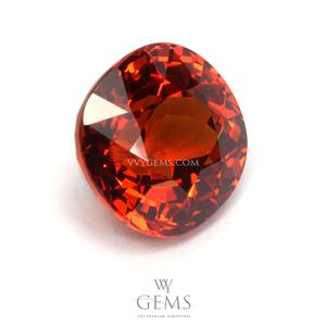 สเปสซาร์ไทด์ (Spessartite Garnet) 4.06 กะรัต สีส้ม IF ไร้ตำหนิ 1