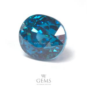 เพทาย (Blue Zircon) 6.61 กะรัต รูปไข่ สีฟ้า 1