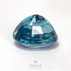 เพทาย (Blue Zircon) 6.61 กะรัต รูปไข่ สีฟ้า 2