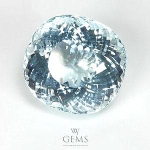 อะความารีน (Aquamarine) 17.86 กะรัต สีฟ้าอ่อน 1