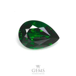 กรีน การ์เนต(Green Garnet) 1.18 ct หยดน้ำ สีท็อป