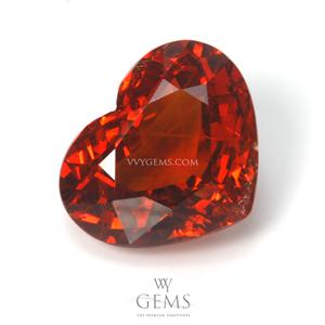 สเปสซาร์ไทด์ (Spessartite Garnet) 5.26 กะรัต รูปหัวใจ