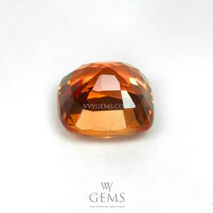 ซองเจีย(Yellow Sapphire) 1.46 กะรัต สีส้ม คุชชั่น ไฟดี 2