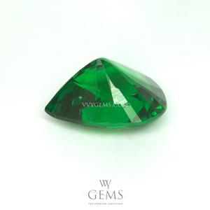 กรีน การ์เนต(Green Garnet) 2.03 กะรัต หยดน้ำ สีท็อป ไฟเต็มเม็ด 2
