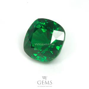 กรีน การ์เนต(Green Garnet) 1.57 กะรัต รูปคุชชั่น สีท็อป 1