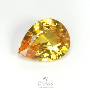 บุษราคัม(Yellow Sapphire) 2.18 กะรัต สีเหลืองมะนาว ไฟดี