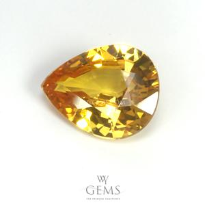 บุษราคัม(Yellow Sapphire) 2.18 กะรัต สีเหลืองมะนาว ไฟดี 1