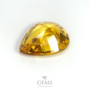 บุษราคัม(Yellow Sapphire) 2.18 กะรัต สีเหลืองมะนาว ไฟดี 2
