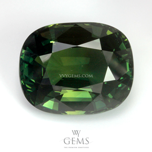 [BGL Certified]เขียวส่อง (Green Sapphire) 16.24 กะรัต รูปไข่