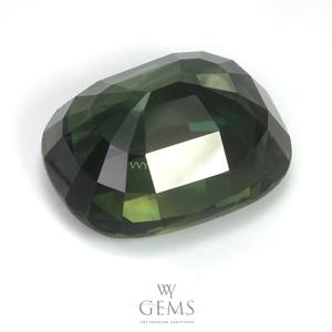 [BGL Certified]เขียวส่อง (Green Sapphire) 16.24 กะรัต รูปไข่ 2
