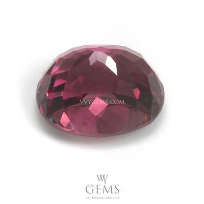 โรโดไลต์ (Rhodolite) 4.40 กะรัต รูปไข่ สีม่วงเข้ม 2