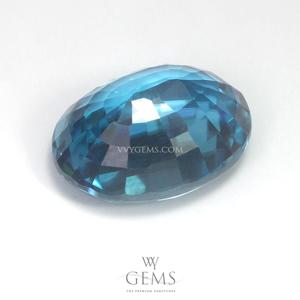 เพทาย (Blue Zircon) 5.45 กะรัต รูปไข่ 2