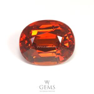 สเปสซาร์ไทด์ (Spessartite Garnet) 2.79 กะรัต รูปไข่ สีแดงส้ม