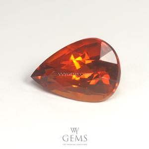สเปสซาร์ไทด์ (Spessartite Garnet) 4.02 กะรัต รูปหยดน้ำ สีแดงส้ม 1