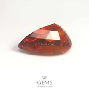 สเปสซาร์ไทด์ (Spessartite Garnet) 4.02 กะรัต รูปหยดน้ำ สีแดงส้ม 2