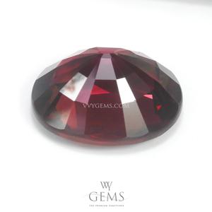 โรโดไลต์ (Rhodolite) 9.15 กะรัต รูปไข่ สีม่วง 2