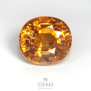 บุษราคัม(Yellow Sapphire) 4.80 กะรัต น้ำทอง