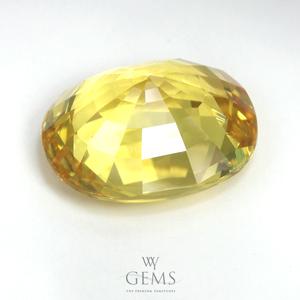 [BGJ Certified]บุษราคัม(Yellow Sapphire) 5.47 กะรัต สีมะนาว 2