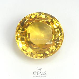 บุษราคัม(Yellow Sapphire) 4.04 กะรัต กลม