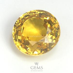 บุษราคัม(Yellow Sapphire) 4.04 กะรัต กลม 1