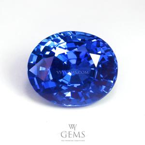 [[[GIT Certified]]]ไพลิน(Blue Sapphire) 4.00 กะรัต พลอยซีลอน รูปไข่ สีสวยมากกกกก