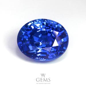 [[[GIT Certified]]]ไพลิน(Blue Sapphire) 4.00 กะรัต พลอยซีลอน รูปไข่ สีสวยมากกกกก 1