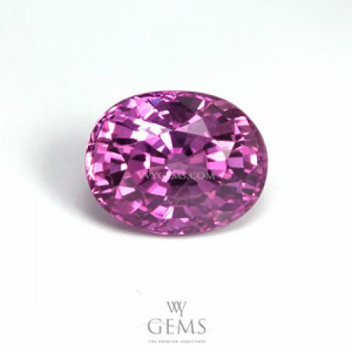 แซปไฟร์ชมพูอมม่วง (Pink Sapphire) 1.59 ct สีม่วงอมชมพู ไฟดี