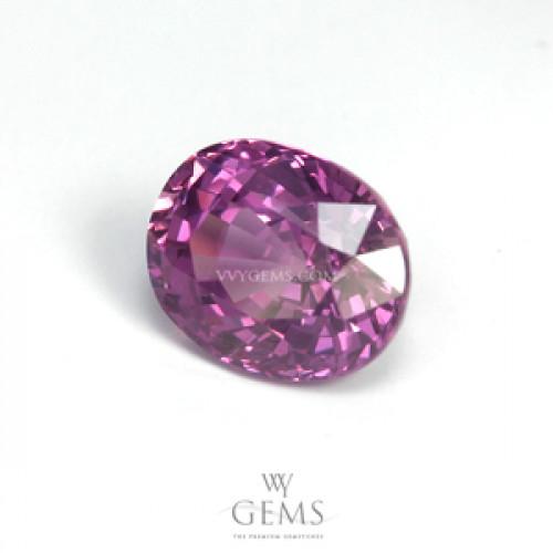 แซปไฟร์ชมพูอมม่วง (Pink Sapphire) 1.59 ct สีม่วงอมชมพู ไฟดี 1