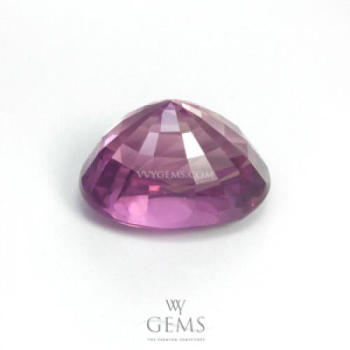แซปไฟร์ชมพูอมม่วง (Pink Sapphire) 1.59 ct สีม่วงอมชมพู ไฟดี 2