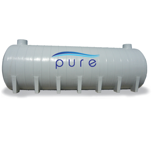 ถังบำบัดน้ำเสียไฟเบอร์กลาสเกรอะกรองรวมแบบเติมอากาศทรงแคปซูล PURE รุ่น PT-25FB ( 25,000 ลิตร )