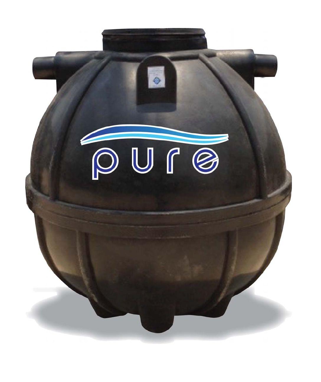 ถังบำบัดน้ำเสียเกรอะกรองรวมแบบไร้อากาศ PURE รุ่น PS-6000 ขนาด 6000 ลิตร