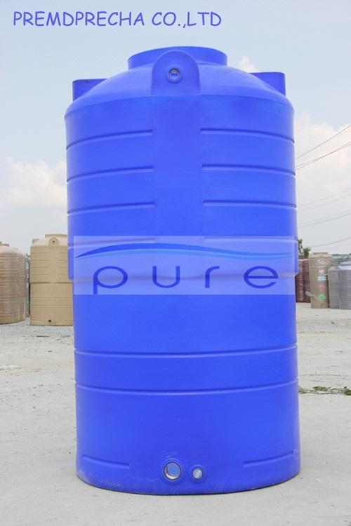 ถังเก็บน้ำบนดิน PE สีฟ้า รุ่น PO-500 ขนาด 500 ลิตร