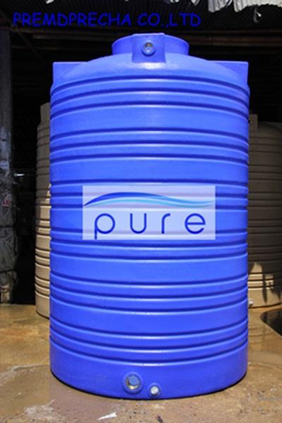 ถังเก็บน้ำบนดิน PE สีฟ้า รุ่น PO-4000 ขนาด 4000 ลิตร