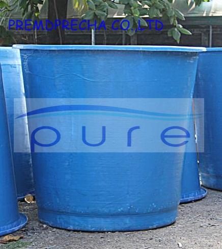 ถังเก็บน้ำไฟเบอร์กลาสบนดินทรงถ้วย PURE ขนาด 2000 ลิตร รุ่น PO-2000FB