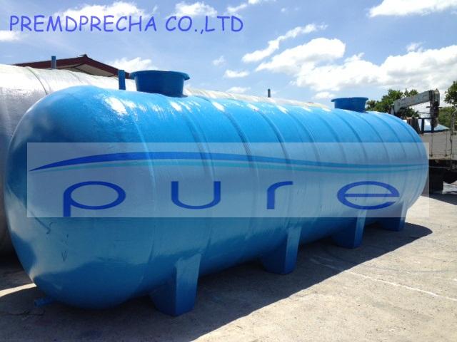 ถังเก็บน้ำไฟเบอร์กลาสบนดินทรงแคปซูล PURE รุ่น PO-40FB ขนาด 40000 ลิตร