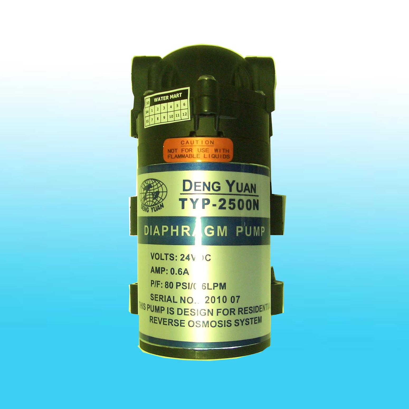 ปั๊มอัดเมมเบรน Pump DENG YUAN TYP2500N 50-75 GPD