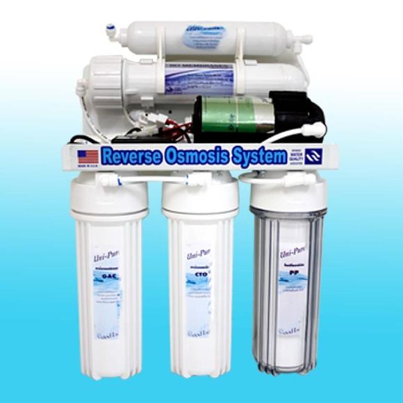 เครื่องกรองน้ำ ro 5 ขั้นตอน ระบบ Reverse Osmosis 50 GPD Uni-pure Bule
