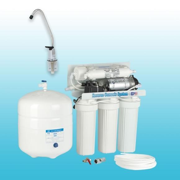 เครื่องกรองน้ำ ro 5 ขั้นตอน ระบบ Reverse Osmosis 50 GPD Uni-pure