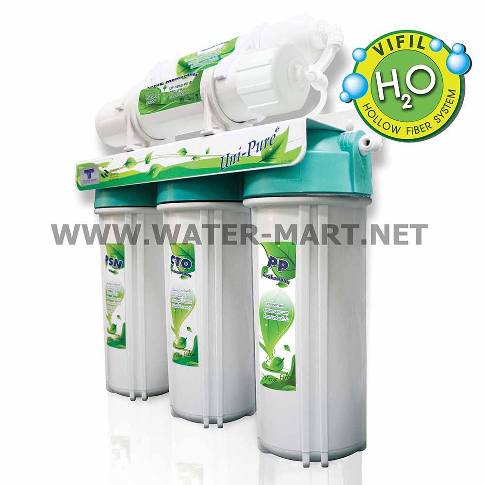 เครื่องกรองน้ำ 5 ขั้นตอน Hollow Fiber Uni-pure (Green)