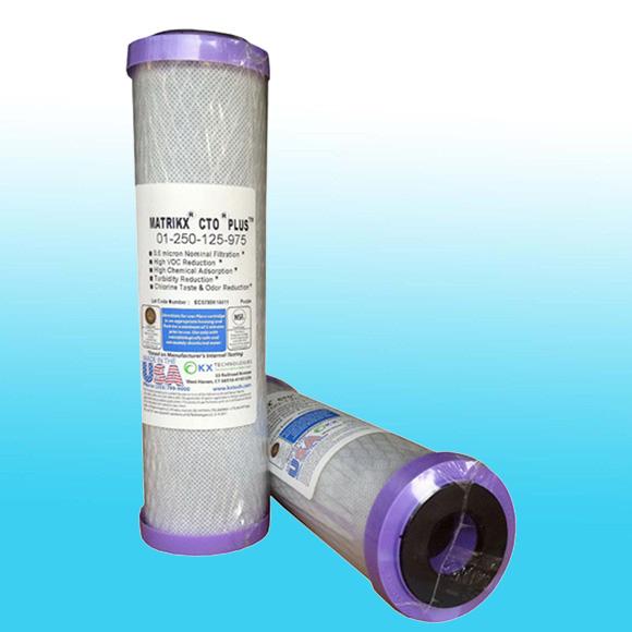 ไส้กรองน้ำ Block Carbon MATRIKX ความละเอียด 0.6 ไมคร่อน รุ่น CTO Plus (ฝาสีม่วง)