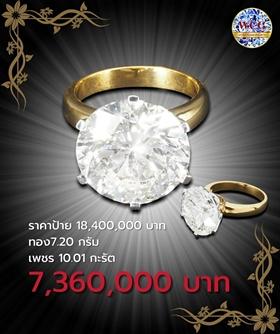 แหวนกะรัต ราคาโปรโมชั่น 7,360,000 บาท