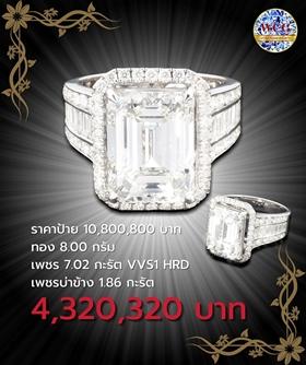 แหวนกะรัต ราคาโปรโมชั่น 4,320,320 บาท