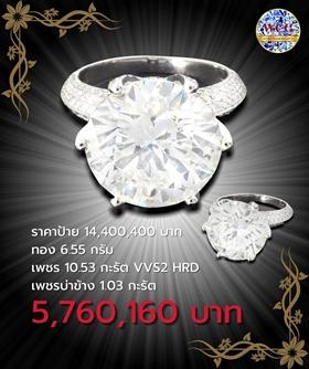 แหวนกะรัต ราคาโปรโมชั่น 5,760,160 บาท