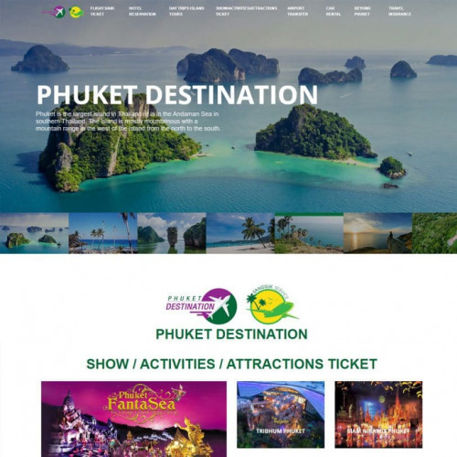 ออกแบบเว็บไซต์ท่องเที่ยว