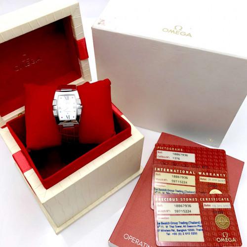 OMEGA Constellation Quadrella Diamonds Quartz สำหรับสตรี ขนาด 26x32.6 mm. (Fullset) 4